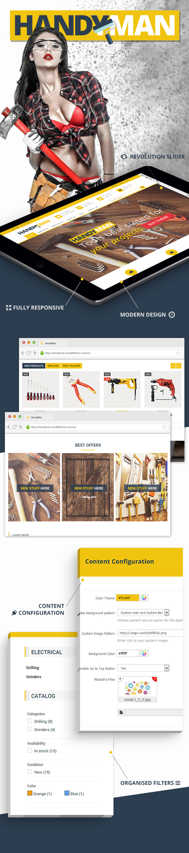 Handyman - PrestaShop Business Construction Theme